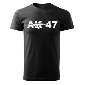 O&T krátké tričko ak47, černá 160g/m2