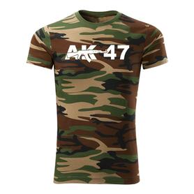O&T krátké tričko ak47, maskáčová 160g/m2