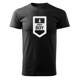 O&T krátké tričko army boy, černá 160g/m2