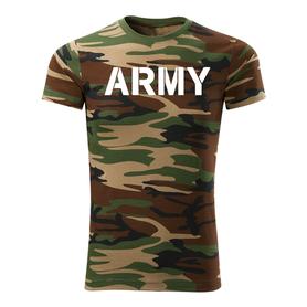 O&T krátké tričko army, maskáčová 160g/m2