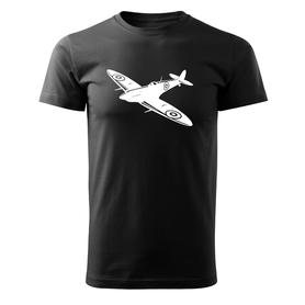 O&T krátké tričko letadlo, černá 160g/m2