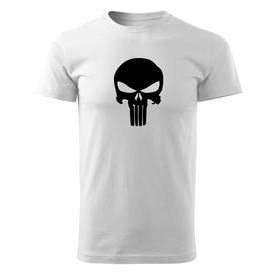 O&T krátké tričko punisher, bílá 160g/m2