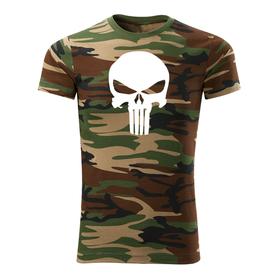 O&T krátké tričko punisher, maskáčová 160g/m2