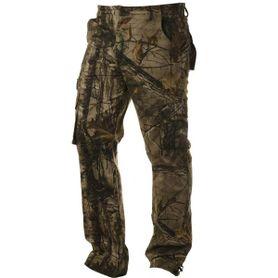 Pánské zateplené kalhoty loshan MXD vzor Real tree tmavé