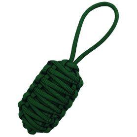 Paracord přívěsek přežití King Cobra, tmavě zelený
