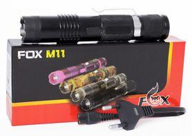 Paralyzér s baterkou Fox M11 černý, 300 000V