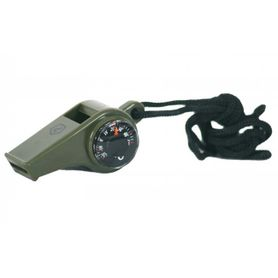 Pentagon píšťalka s kompasem a teploměrem, olivová