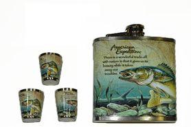 Pelan placatka s pohárky se vzorem ryby 0,23L
