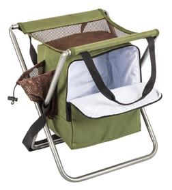 Rybářská kempingová židle s chladící taškou, olivová