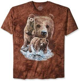 The Mountain 3D tričko 10 medvědů, unisex