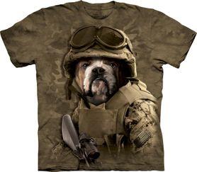 The Mountain 3D tričko armádní pes, unisex