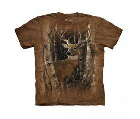 The Mountain 3D tričko jelen v lese, unisex