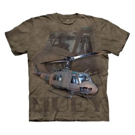The Mountain 3D tričko vojenský vrtulník, unisex