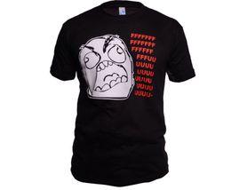 Funny vtipné tričko, fffffuuuuu černé