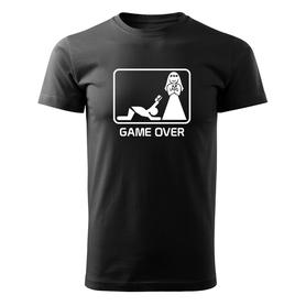 O&T krátké tričko game over, černá 160g/m2