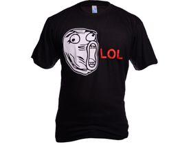 Funny vtipné tričko, meme face lol černé