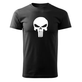 O&T krátké tričko punisher, černá 160g/m2