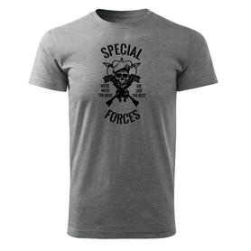 O&T krátké tričko special forces, šedá 160g/m2