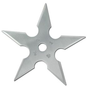 Vrhací hvězdice, shuriken, 5 CIPA, stříbrná