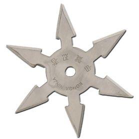 Vrhací hvězdice, shuriken, 6 CIPA, stříbrná