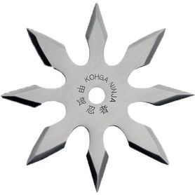 Vrhací hvězdice, shuriken, 8 CIPA, stříbrná